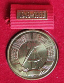 om934 - 3 - 40 years state anniversary medal from 1989 - last official medal awarded by the DDR