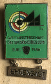 om800 - c1986 World Championships in Sports Shooting in Suhl - VIP guest badge