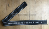 om389 - 15 - WACHREGIMENT FRIEDRICH ENGELS cuffband cuff title
