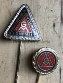 om407 - gold & silver honour needle for the IG Metall - West German metal workers union