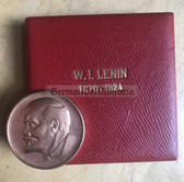 oo138 - East German Lenin presentation plaque table medal