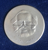oo127 - East German Karl Marx portrait presentation table medal