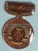 om438 - Honour Medal of the East German legal system in presentation case