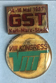 om440 - c1987 GST 8th National in Congress in Karl-Marx-Stadt medal in presentation case