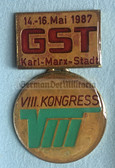 om439 - c1987 GST 8th National in Congress in Karl-Marx-Stadt medal in presentation case