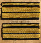om331 - Volksmarine Navy VM - Kaleu Kapitaenleutnant - pair of sleeve rank stripes