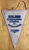 oo323 - c1985 DDR Championships in Cross in Angermuende Wimpel Pennant