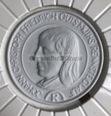 oo394 - East German porcelain presentation table medal Rennsteiglauf