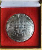 oo347 - c1977 National Youth Sports Festival in Leipzig cased table medal