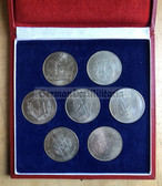 oo345 - National Youth Sports Festival in Leipzig cased table medal set