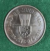 oo383 - c1974 MAS 25th anniversary cased presentation medal