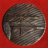oo404 - NVA Air Force & Air Defence award table medal in silver