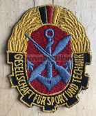 om568 - 1950s 1st type GST SLEEVE PATCH - East German paramilitary youth organisation