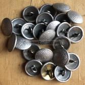 sbbs096 - 22 - smallest East German NVA Grenztruppen Volkspolizei Uniform & hat chin strap silver Buttons - price is per button