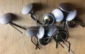 sbbs097 - 32 - East German NVA Grenztruppen Volkspolizei visor hat chin strap silver Buttons - price is per button