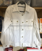 kmo004 - NVA Volksmarine VM Navy officer career soldier summer walking out white blouse shirt - different sizes available