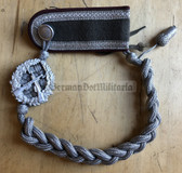 wo248 - c1960's NVA Army & Stasi Shooting Lanyard - Infantry Schuetzenschnur with early 1960's MfS shoulder board