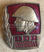 om534 - NVA Army Bester Badge with glass enamel - 1st type mid 1960's without repeat hanger brackets - worn on uniforms