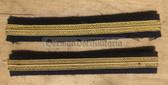 om295 - 3 - Volksmarine Navy VM - Faehnrich - pair of sleeve rank stripes