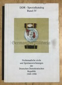 ob018 - DDR SPEZIALKATALOG IV - reference book about non state civilian and sports medals and awards