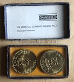 om405 - c1970 Mansfeld Kombinat unusual double coin presentation set