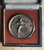oo417 - c1976 TAKRAF Leipzig Military Combat Competition - unusual shape and case cased tabled medal