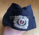rp037 -  female Volkspolizei VP VoPo Police TraPo Transport Police Schiffchen side cap with embroidered badge - size 56