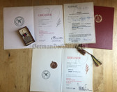 ag007 - 10 & 20 years FFw Freiwillige Feuerwehr long service medal award set for the same woman