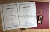 ag014 - c1978 & 1979 LPG Achievement medal double award cert and medal for the same woman from Parchim