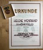 ag029 - c1963 LPG Achievement medal award cert and medal