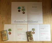 ag022 - VP Police medals and certs grouping to a fire fighter Feuerwehr