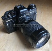 wo221 - East German Praktica B100 electronic camera with Prakticar Tele lens - as used by the Grenztruppen Border Guards