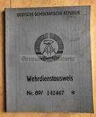 wd002 - blank NVA & Grenztruppen WDA Wehrdienstausweis document