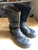 wo391 - c1960s West German Bundeswehr army leather Boots Stiefel with metal tips- NVA size 26.5/EU size 40/US size 7.5/UK size 7
