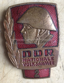 om451 - NVA Army Bester Badge with glass enamel - with repeat hanger - worn on uniforms