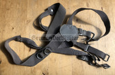 wo458 - c1960s/70s NVA army webbing Y-straps Tragegestell with heart shaped centre piece