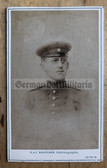 wpc534 - c1898 dated Imperial German soldier photo - carte de visite CDV - from Leipzig Saxony