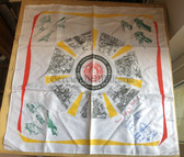 oo063 - c1980's NVA Reservist Scarf with signatures - given at the end of service