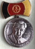 om500 - 2 - POS Fürstenwalde Hermann Matern commemorative medal in box