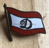 oa057 - c1960s Dynamo Bucharest Romania Football Club enamel flag pin
