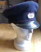 gw031 - c1960s wool Feuerwehr fire service visor hat - size 58