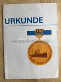 od002 - FDJ medal 60 years anniversary October Revolution award certificate