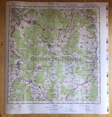 wd011 - original East German NVA Army tactical map with border - c1989 KASSEL