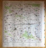 wd014 - original East German NVA Army tactical map - c1989 ERFURT NORTH WEST