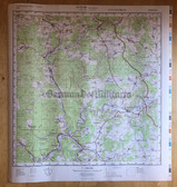 wd025 - original East German NVA Army tactical map of West German area only - c1989 HAMMELBURG
