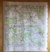wd028 - original East German NVA Army tactical map with border - c1985 KULMBACH