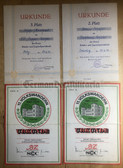 od011 - lot of sports competition certs from the DDR and West Berlin