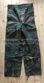 wo067 - original British Army DP Woodland camo waterproof trousers