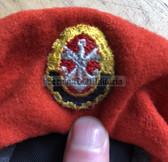gw029 - FDJ Ordnungsgruppe beret with GST badge