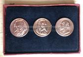 gw057 - cased coin set Marx, Engels, Lenin